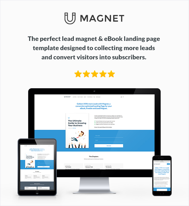 Magnet HTML Lead Magnet and eBook Landing Page